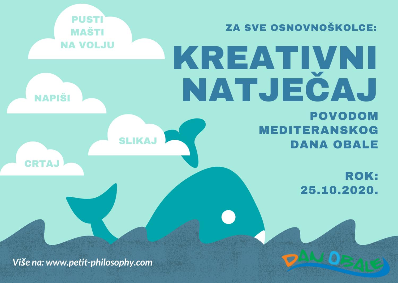 Mediteranski dan obale – Kreativni natječaj za osnovnoškolce