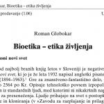 Bioetika - etika življenja
