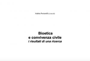 Bioetica e convivenza civile i risultati di una ricerca