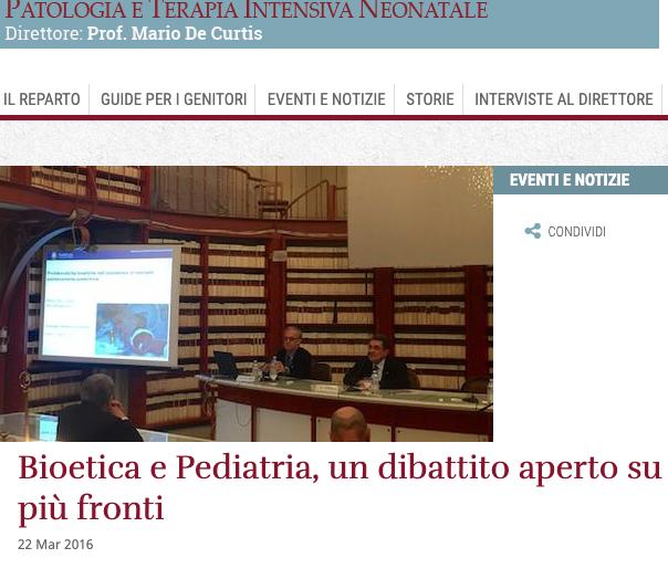 Bioetica e Pediatria, un dibattito aperto su più fronti